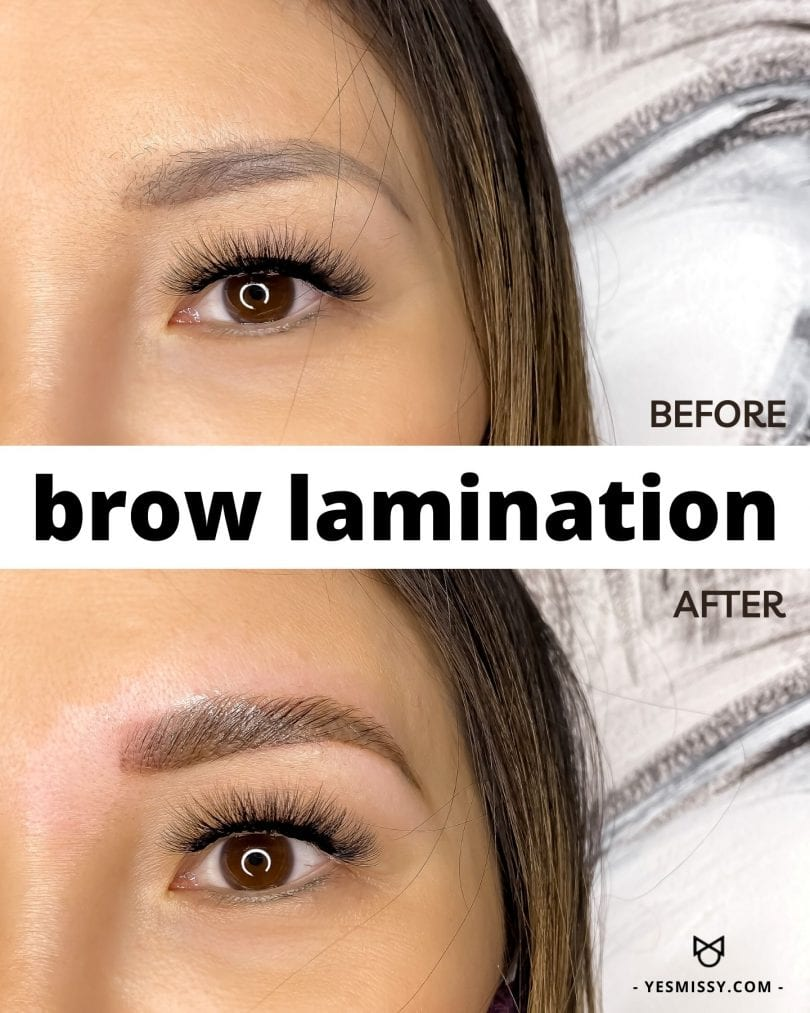 Brow lamination before and after results! Learn more about this semi-permanent brow treatment at yesmissy.com