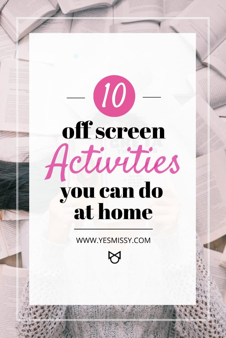 Activities you can do at home that don't involve a screen!