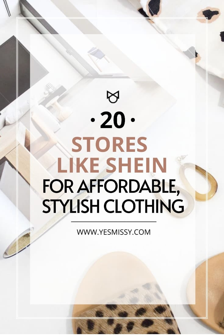 Looking for affordable and stylish clothing that won't break the bank?  Here's a round up of stores like SHEIN for budget friendly fashion finds.