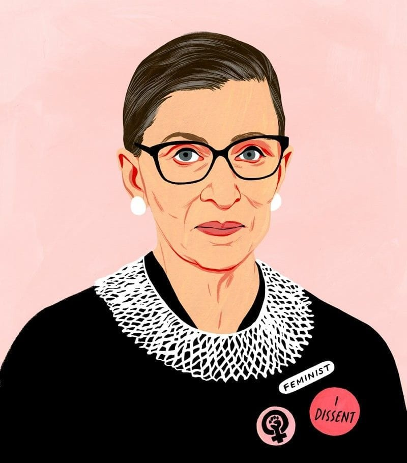 10 life lessons from Ruth Bader Ginsburg.