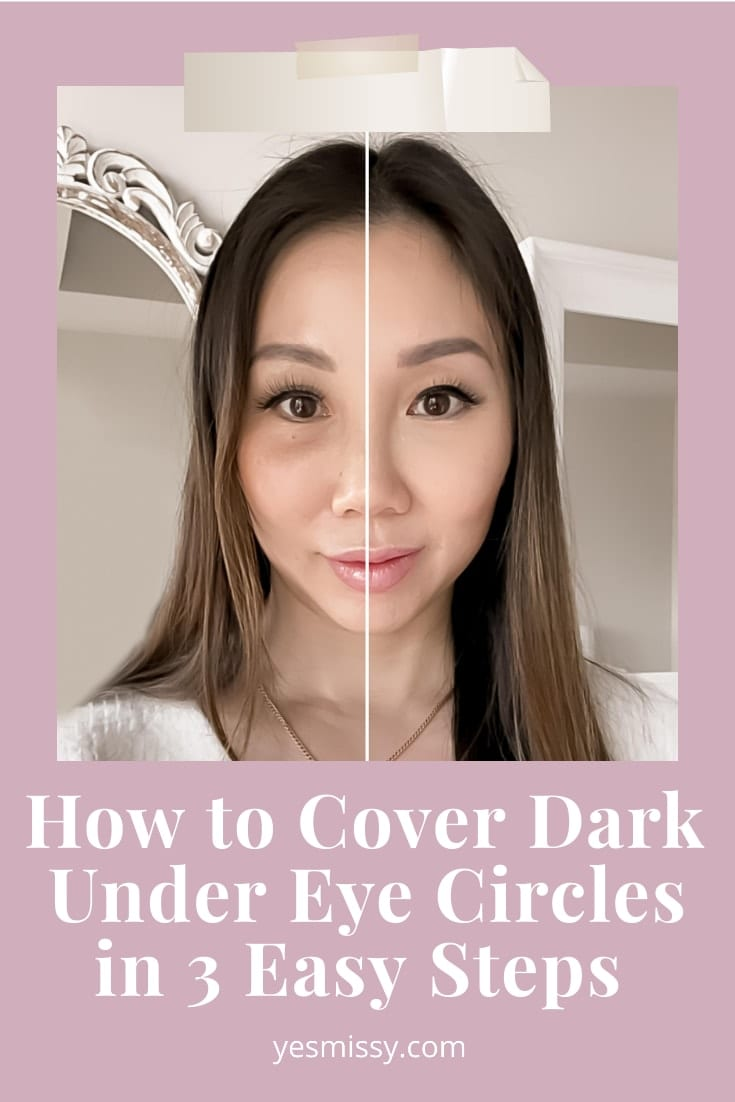 A 3 step tutorial to help you get rid of dark eye circles and brighten the eye area