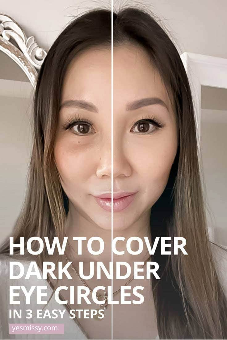 Learn how to cover dark under eye circles in 3 easy steps. Get the full tutorial at yesmissy.com