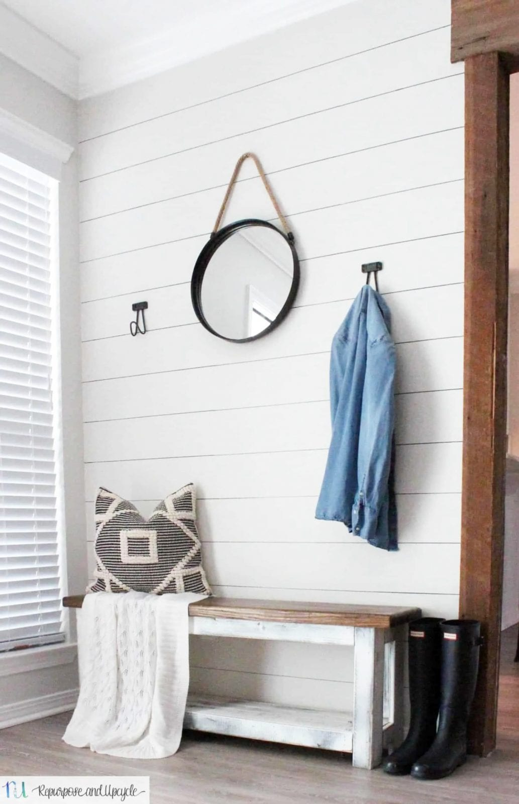 DIY sharpie home decor ideas - Create this faux shiplap wall with a sharpie and a ruler!