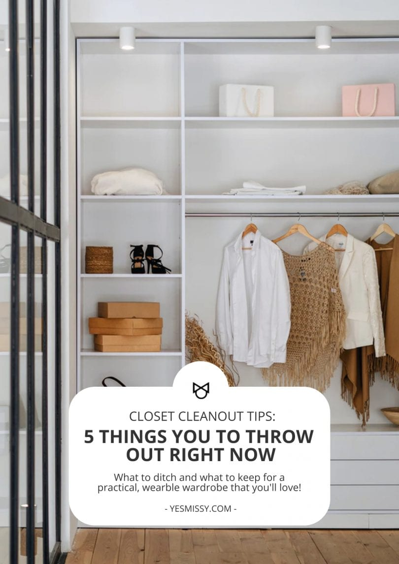 Practical guidelines to help you decide what to keep and what to throwout for a wearable wardrobe you'll love.