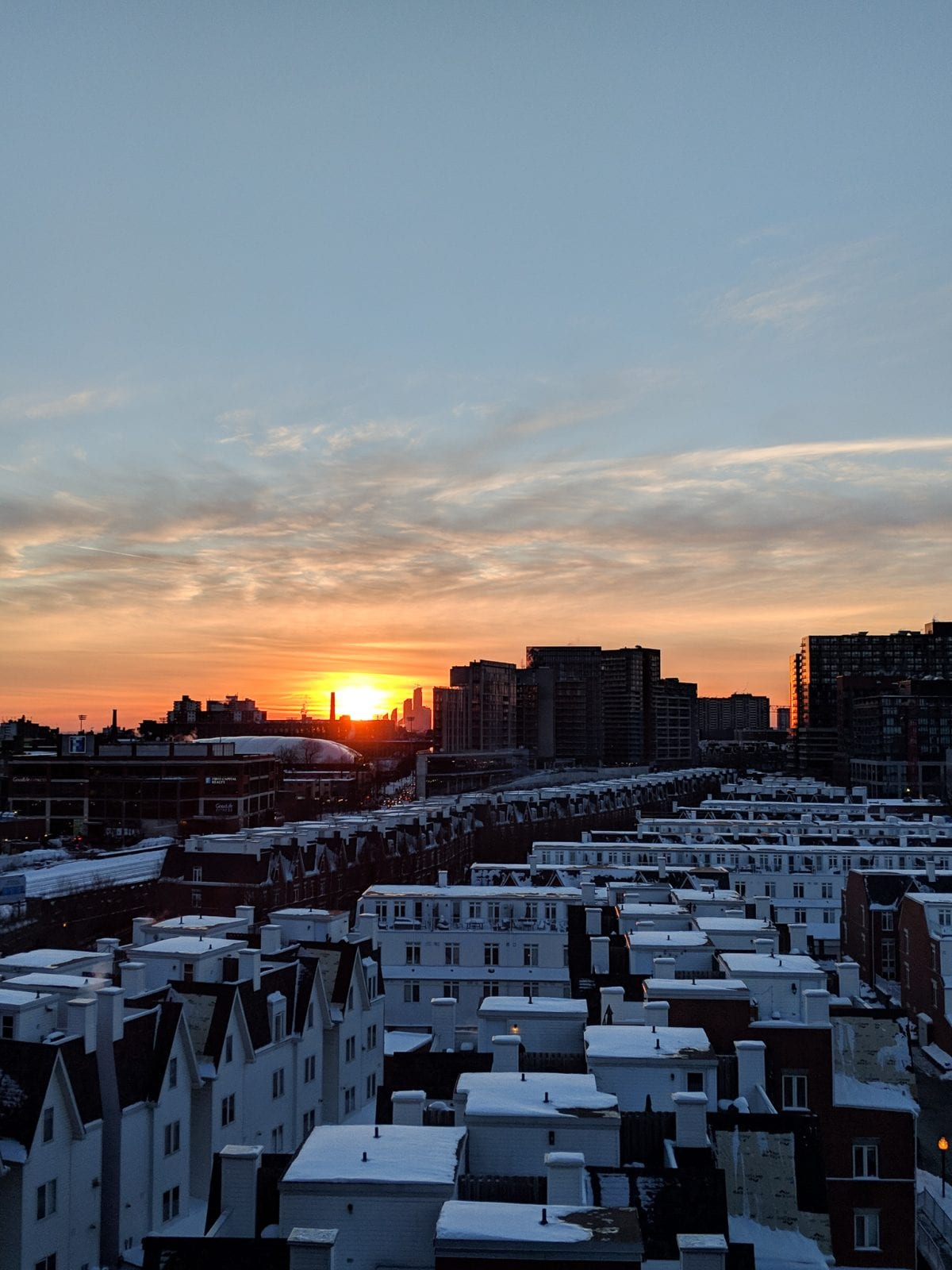 Sunsets from my downtown apartment - Downtown condo tour