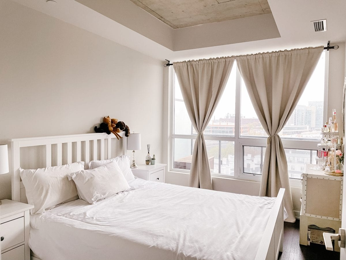 Apartment tour - contemporary cottage chic bedroom