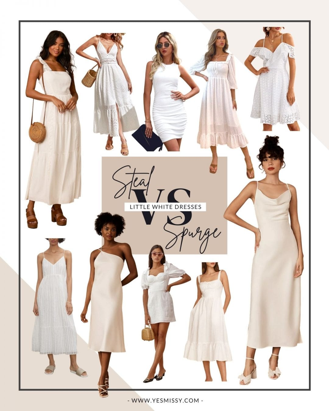The best places to shop for little white dresses this summer, whether you're looking for a splurge or a steal of a deal! More on yesmissy.com