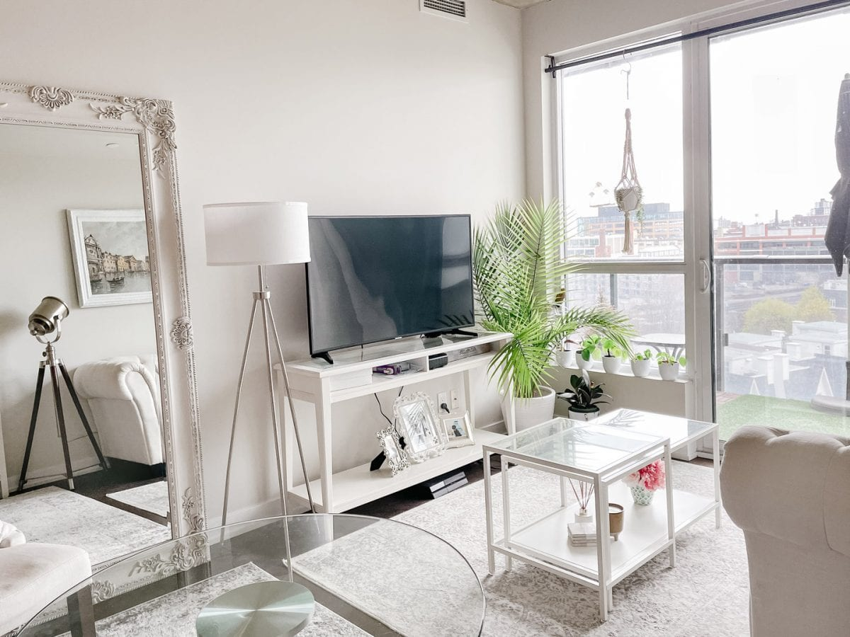 Condo living room with Ikea furniture