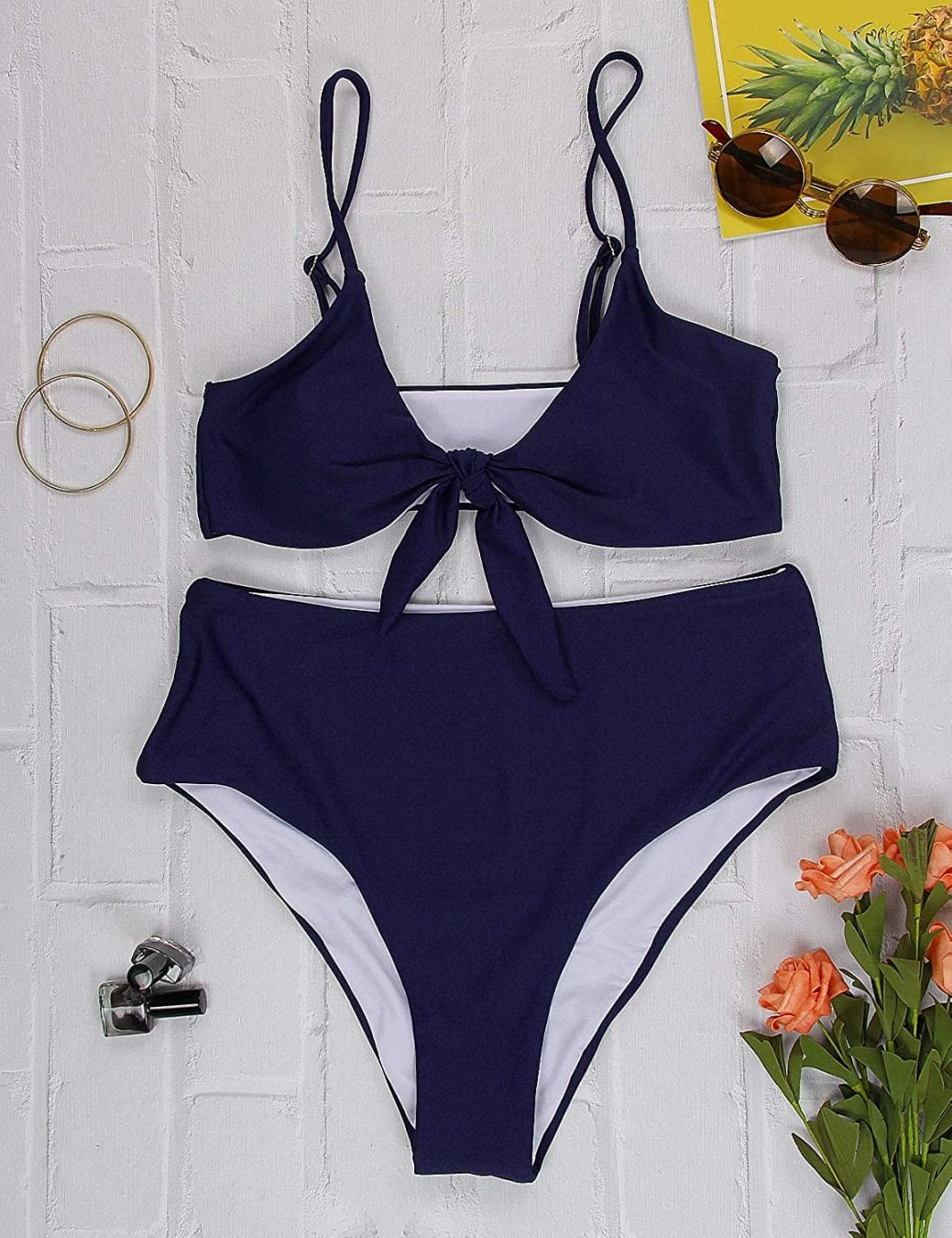 Cute navy bikini with over 5000 reviews on Amazon