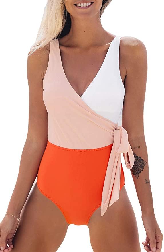 Fun color block bathing suit under $30! For more affordable finds visit yesmissy.com